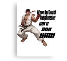 Ryu motivates Canvas Print