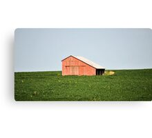 Barn in field Canvas Print