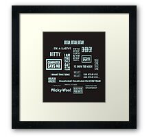 Little Britain - Britainisms Framed Print