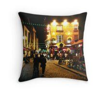 Temple Bar, Dublin Throw Pillow
