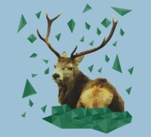 Low Poly Deer Stag Baby Tee