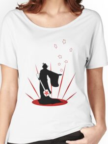 Silhouette of a Geisha  Women's Relaxed Fit T-Shirt