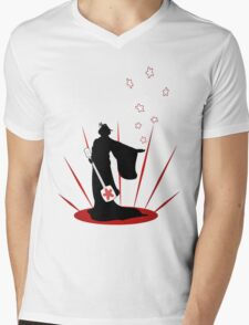 Silhouette of a Geisha  Mens V-Neck T-Shirt