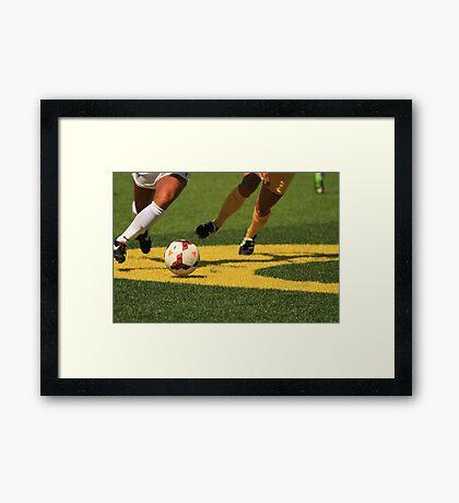 Plays on the Ball Framed Print