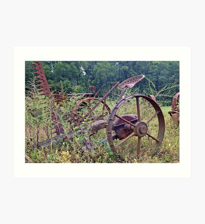 Farm equipment Abandoned Art Print