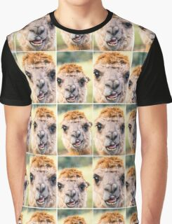 Alpaca by itself in a field  Graphic T-Shirt