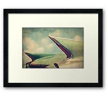 Cadillac Coupe DeVille Fintails Framed Print