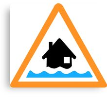 Flood Alert Symbol Canvas Print