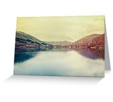 A beautiful lake Greeting Card