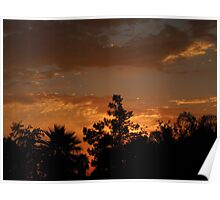 Fall's Sunset.... Poster