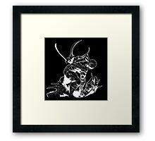 Cyborg Ninja (White Opaque) Framed Print