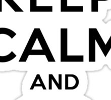Keep Calm and Go Running(LS/Male) Sticker