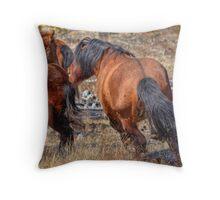 Stallions gone crazy! Throw Pillow