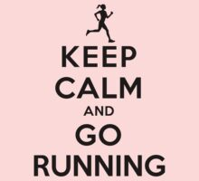 Keep Calm and Go Running (LS/Female) Kids Clothes