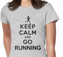 Keep Calm and Go Running (LS/Female) Womens Fitted T-Shirt