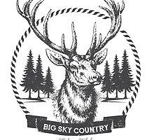Big Sky Country Deer - Dark print by sofiatalvik