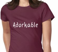 Adorkable Womens Fitted T-Shirt