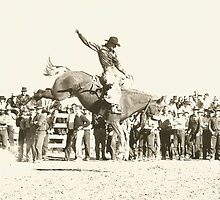 "Doff Aber On ""Starlight"" Red Bluff Rodeo 1941 by Robert Stanford"