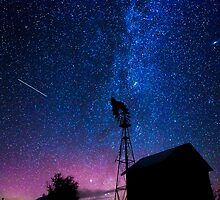 Windmill and the Milky Way  by Jim Stiles