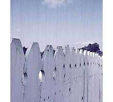 Fence-And-Sky Photographic Print