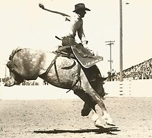 Jack Sherman On 11:15 At the Jantzen Beach Rodeo, Oregon 1943 by Robert Stanford