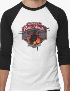 RotorWash Brewing Co. - Lean'n Lager Skycrane Men's Baseball ¾ T-Shirt