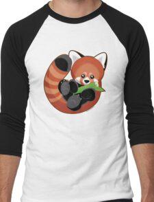 Cute Red Panda Men's Baseball ¾ T-Shirt