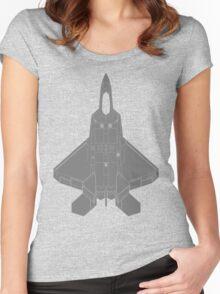 Lockheed Martin F-22 Raptor Women's Fitted Scoop T-Shirt
