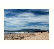 Love This Sky It Was So Peaceful At The Beach Today Art Print