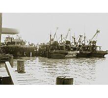 Old fishing boats of Sandakan Photographic Print