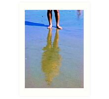 Reflection In The Sand 2 Art Print