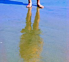 Reflection In The Sand 2 by Rebecca Dru