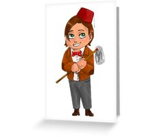 Chibi 11th Doctor Greeting Card