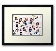 Doctor Who - No gravity chibies Framed Print