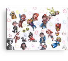 Doctor Who - No gravity chibies Canvas Print