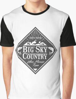 Big Sky Country - Dark print Graphic T-Shirt