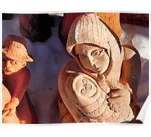Pottery Fair Virgin Mary with Infant Jesus Poster