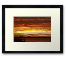 Bands of copper and gold Framed Print