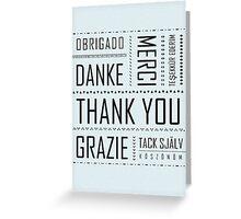 Multi-Language Thank You Card  Greeting Card