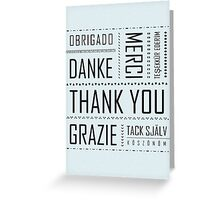 Multi-Language Thank You Card  Greeting Card