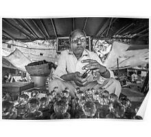 Jaipur market perfume oil seller Poster