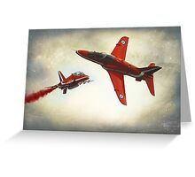"""Red Arrows"" Greeting Card"