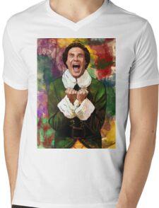 Elf - SANTA'S COMING! Mens V-Neck T-Shirt