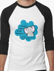Puppy sized elephants. <3 DFTBA Men's Baseball ¾ T-Shirt