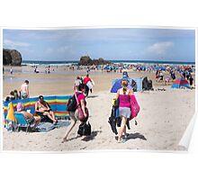 perranporth beach Poster