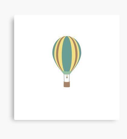 Colourful hot air balloon Canvas Print