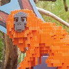Orange lego monkey 2 by linwatchorn