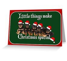Little Things Make Christmas Special Vector Greeting Card