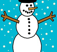 Christmas Snowman. by chany