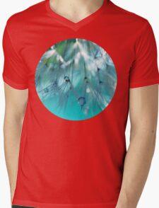 Turquoise Dandy Delight Mens V-Neck T-Shirt